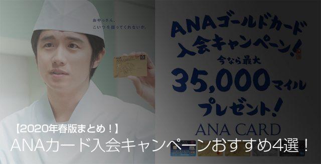 ANAカード入会キャンペーンおすすめ4選