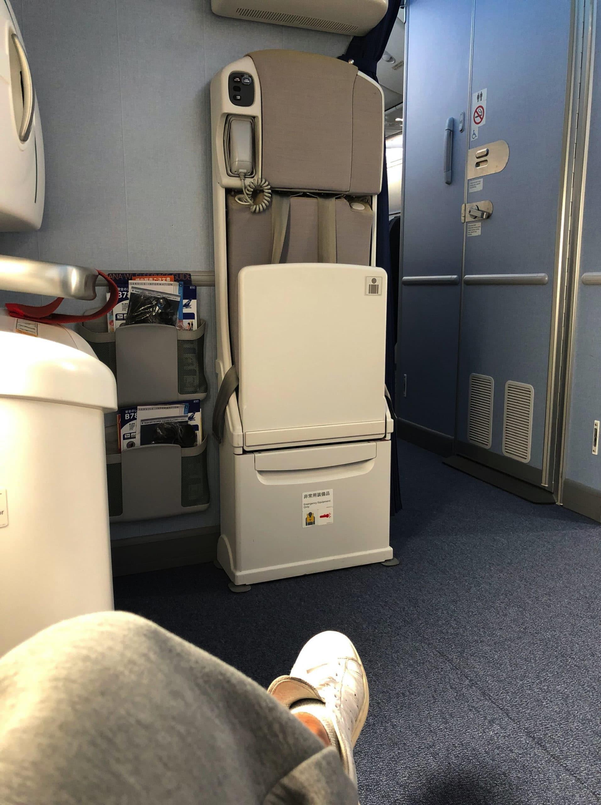 非常口席の機内写真